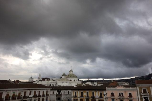 Vue sur les toits de Quito.