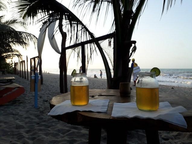 LA michelada du soir sur la plage de Palomino.
