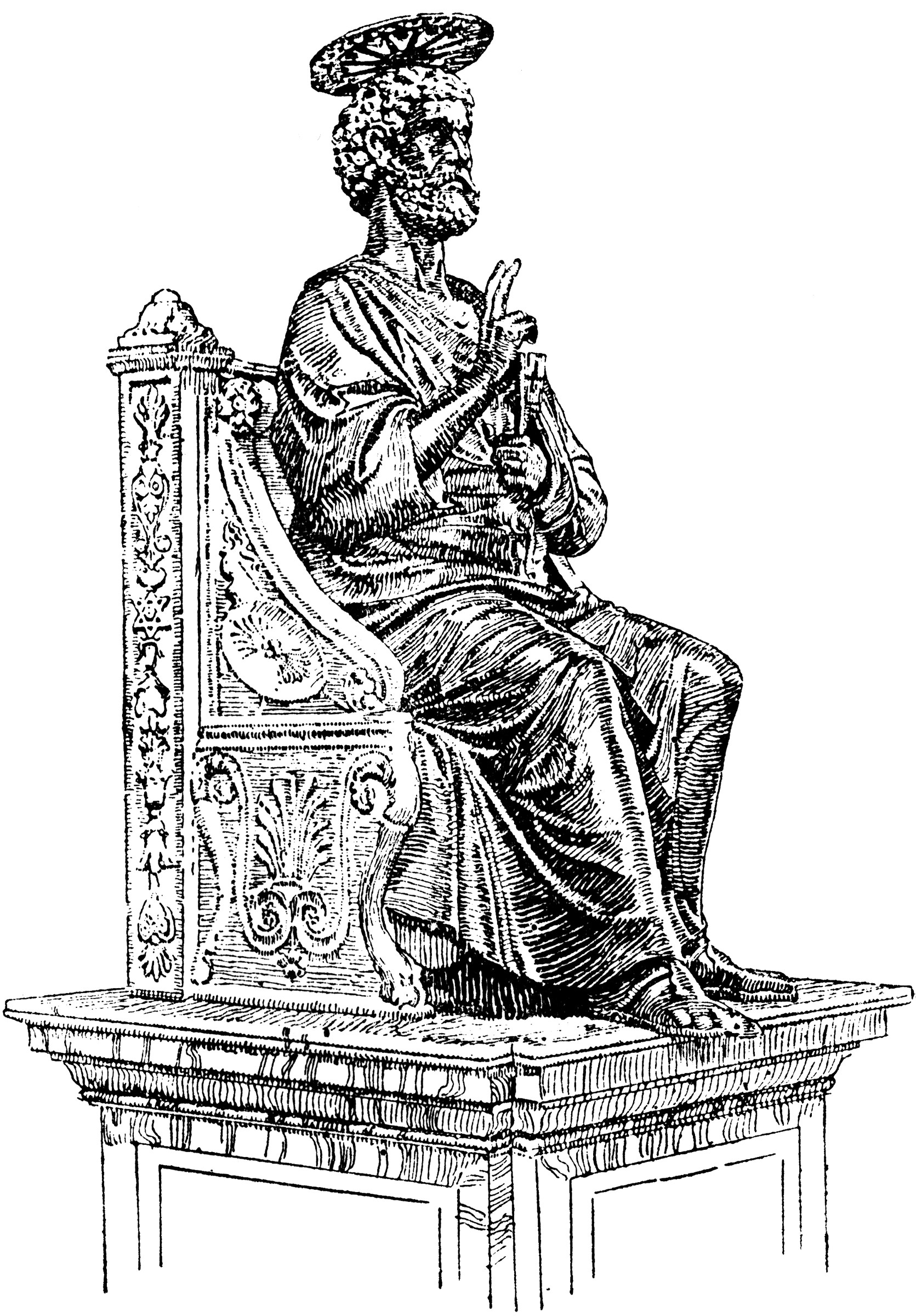 Statue Of St Peter Clipart Etc