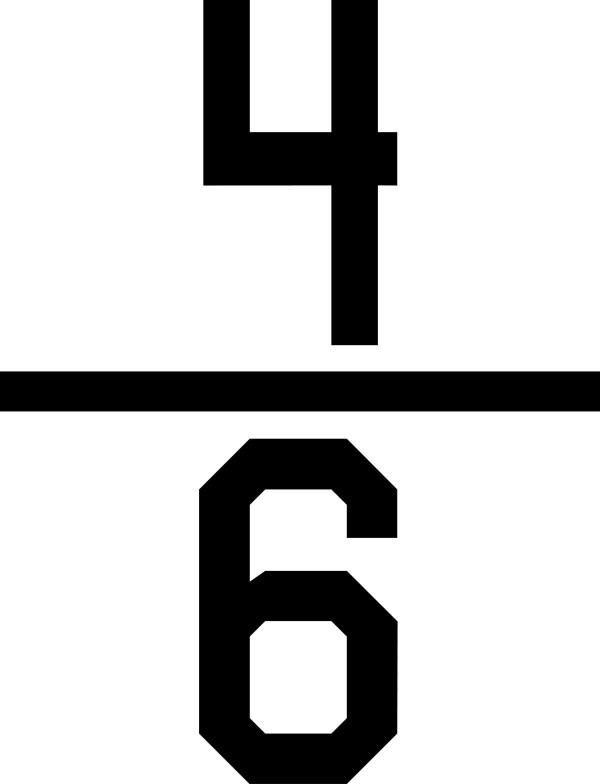 Numerical fraction 46 ClipArt ETC