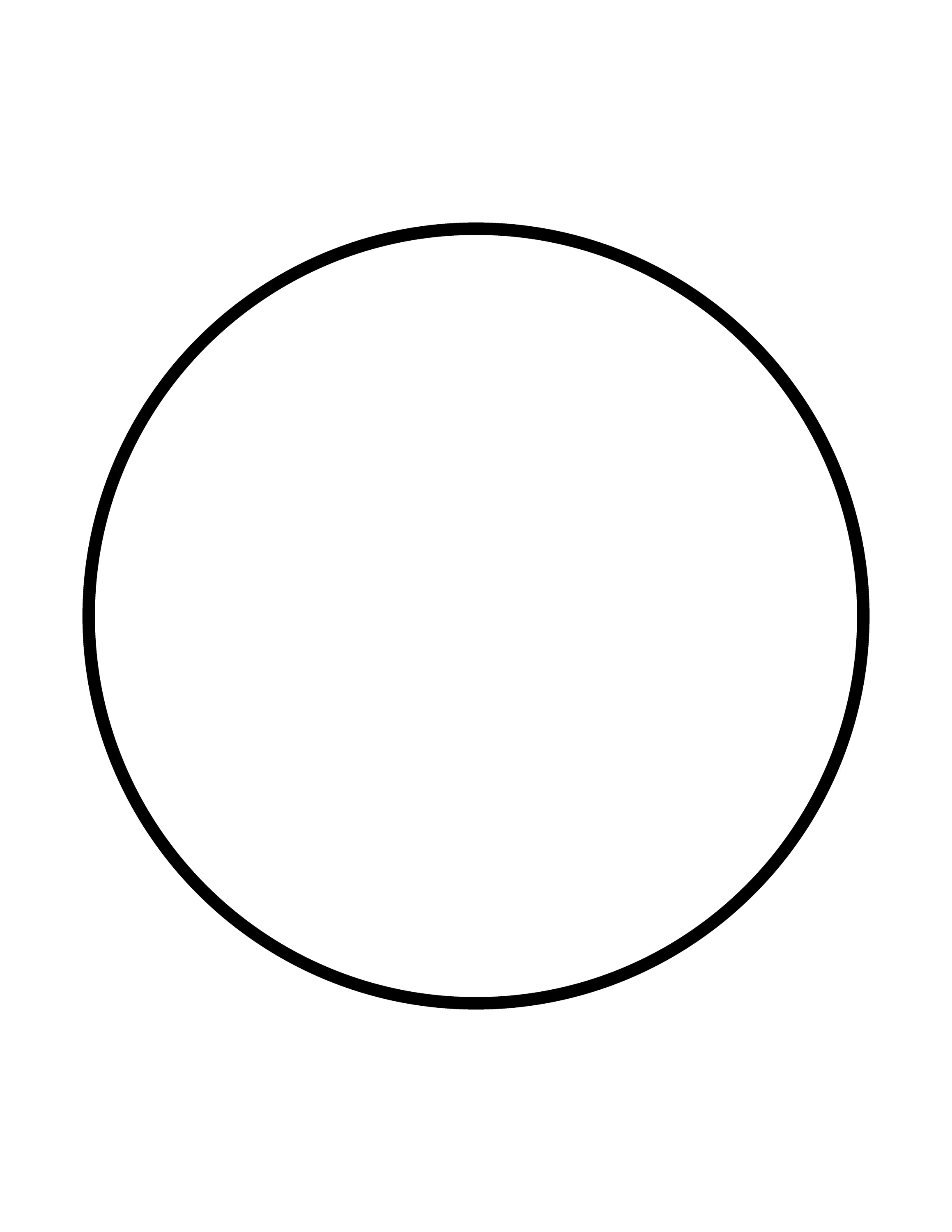 Flashcard Of A Circle Clipart Etc
