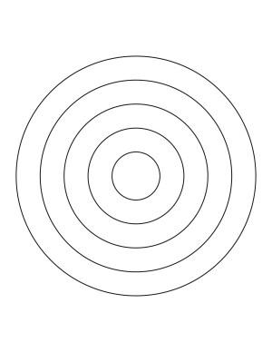 5 Concentric Circles | ClipArt ETC