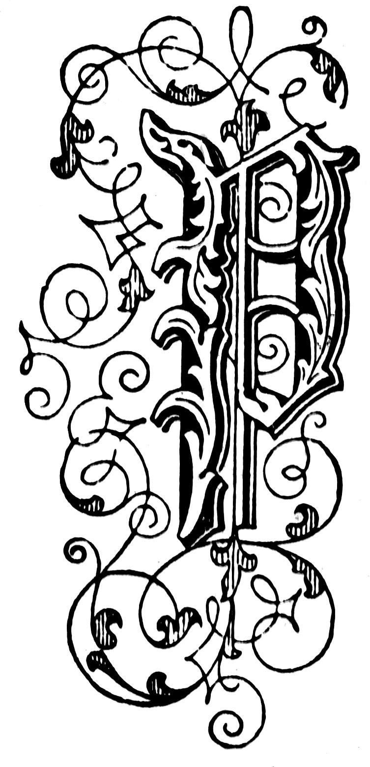 P Floral Letter ClipArt ETC