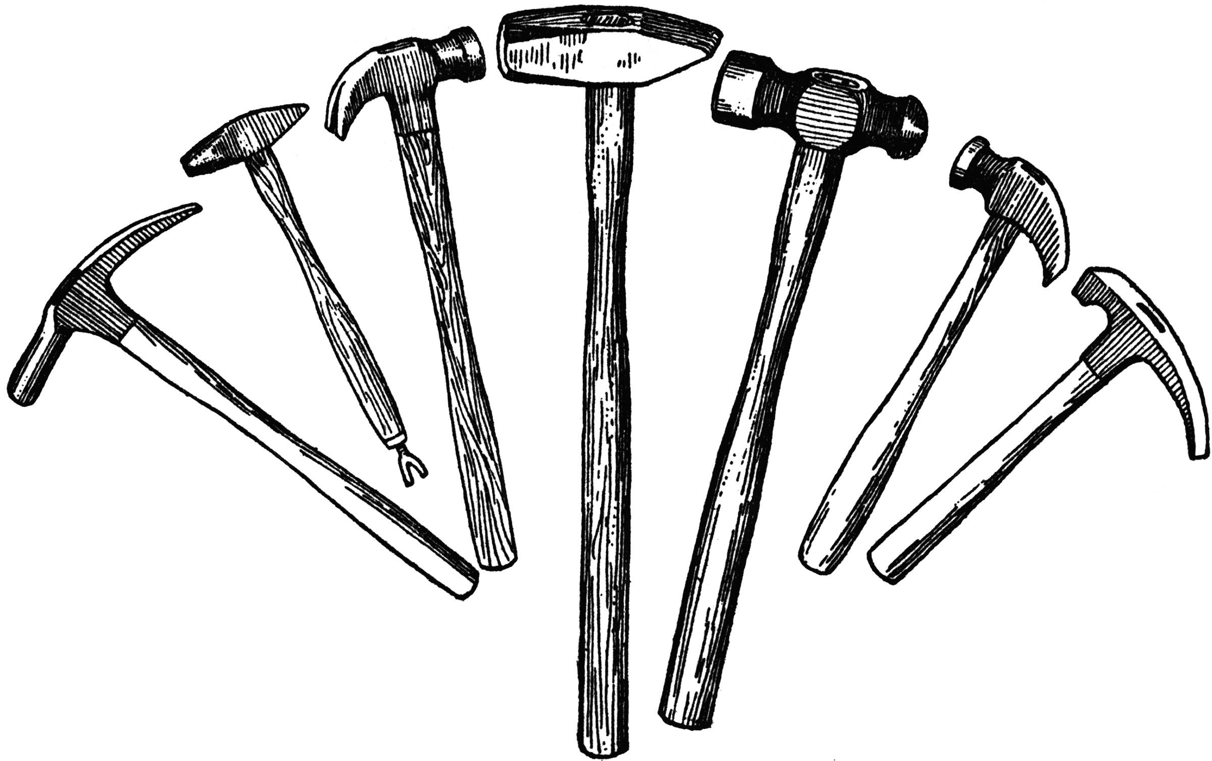 White And Hammer Black Gavel