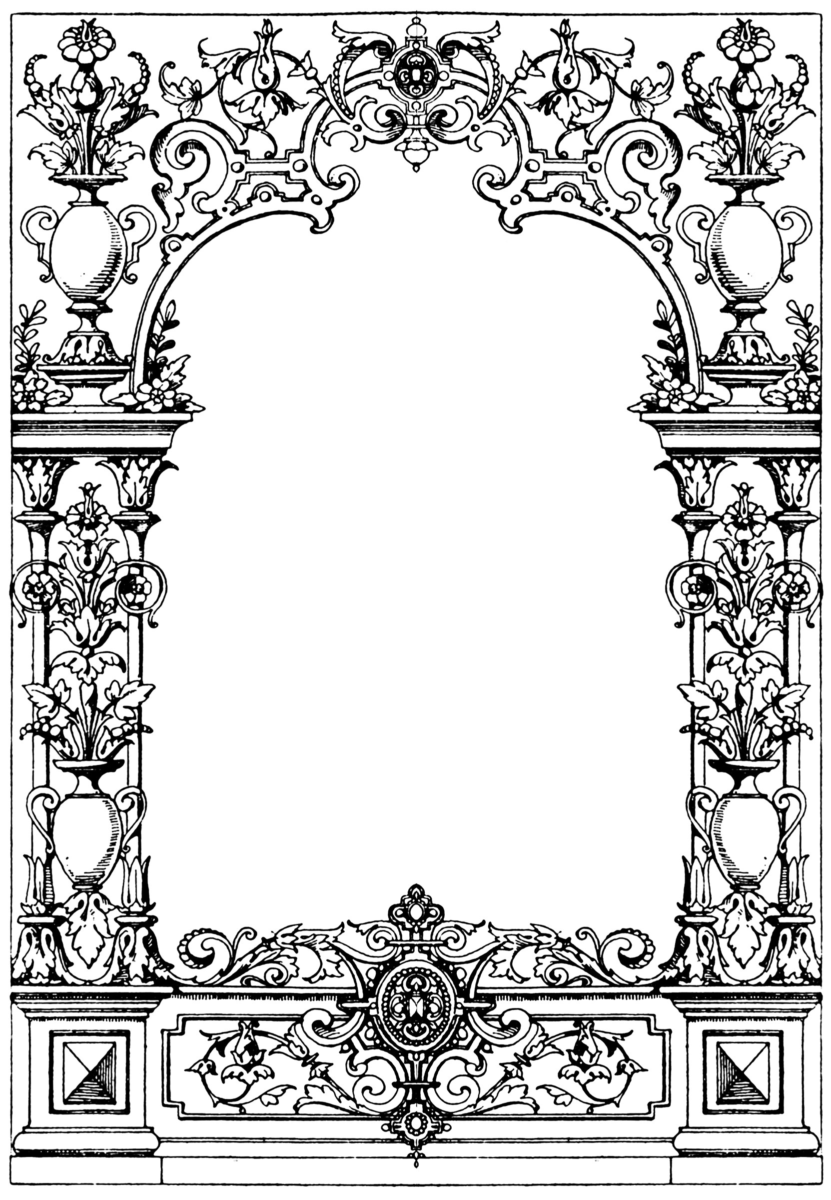 And Black Clip Checkered Art Borders White Frames And