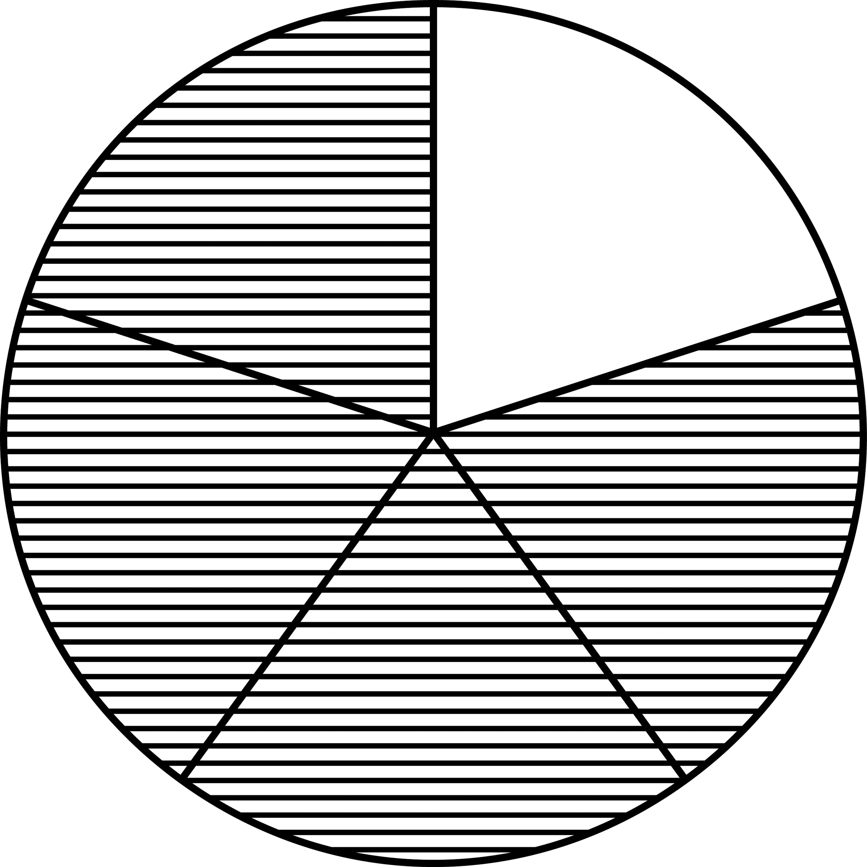 Fraction Pie Divided Into Fifths Clipart Etc