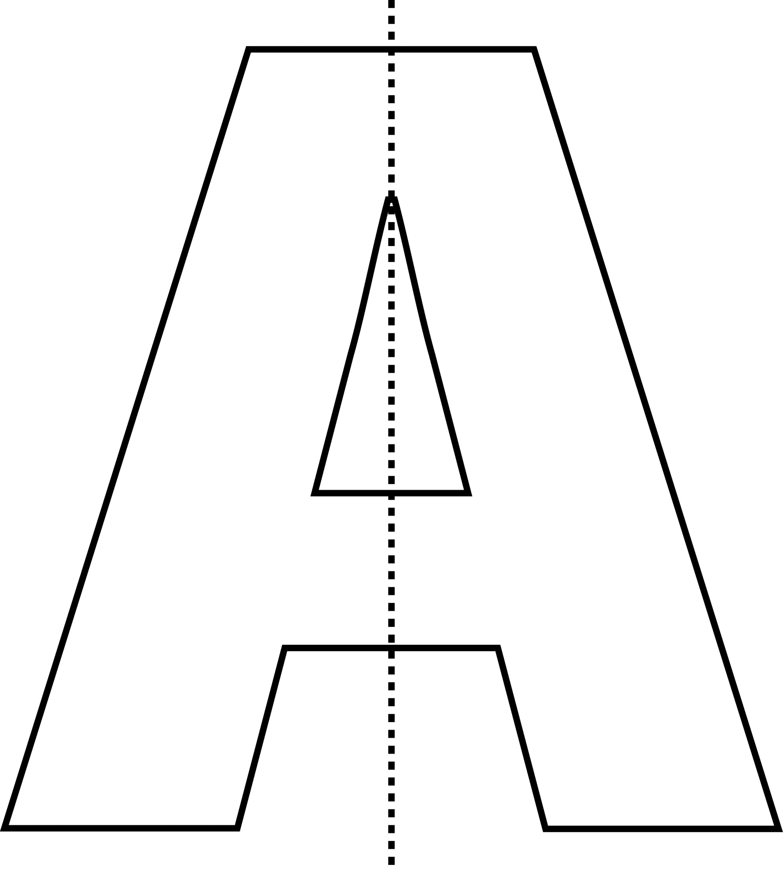 Vertical Line Of Symmetry Letter A With Clipart Etc
