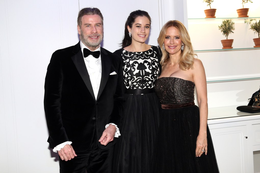 John Travolta and his wife Kelly Preston and daughter Ella Bleu Travolta