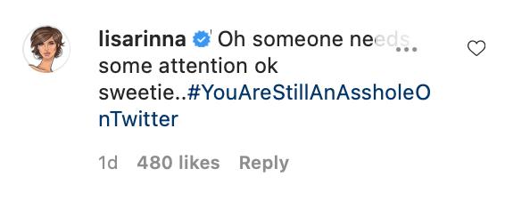 Lisa Rinna Instagram Comment Camille Grammer