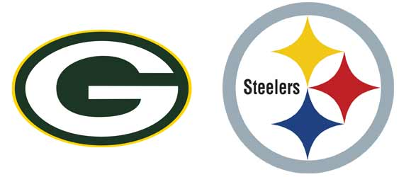 Green Bay Packers and Pittsburgh Steelers logos