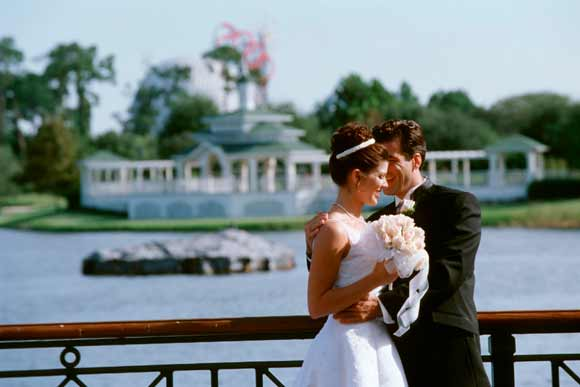 Newlyweds at the Walt Disney World Resort