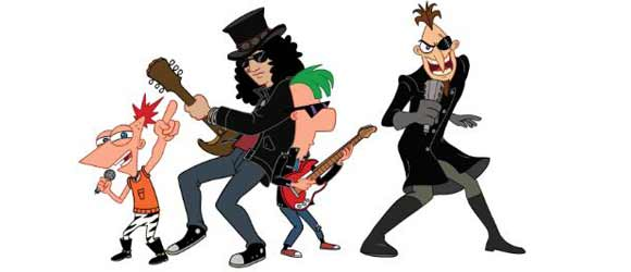 phineas, ferb & slash