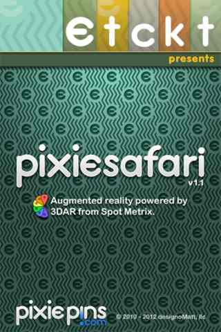 Launch screen for PixieSafari