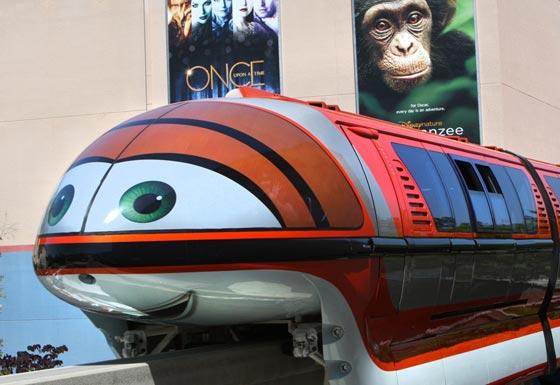 Mona Monorail at the Disneyland Resort