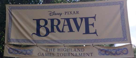 Sign for the Brave Highland Games