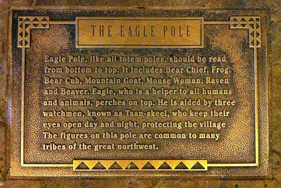 Eagle Pole plaque