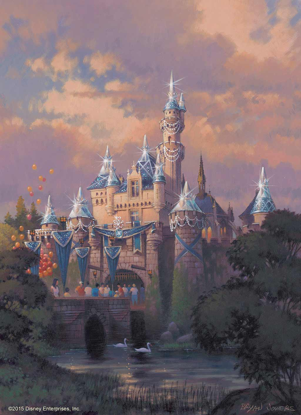 Rendering of Disneyland's Sleeping Beauty Castle