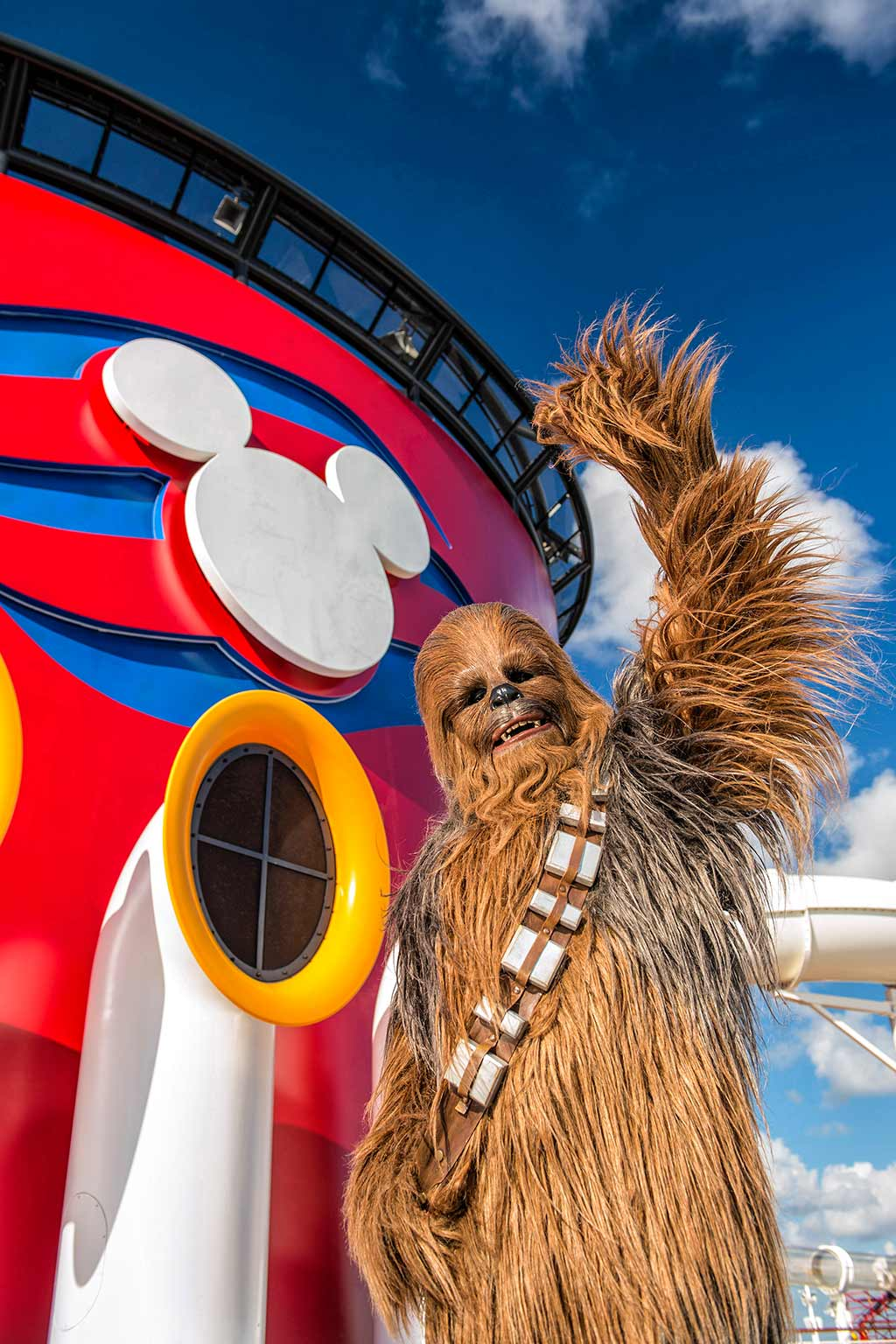 Chewbacca on Disney Cruise Ship