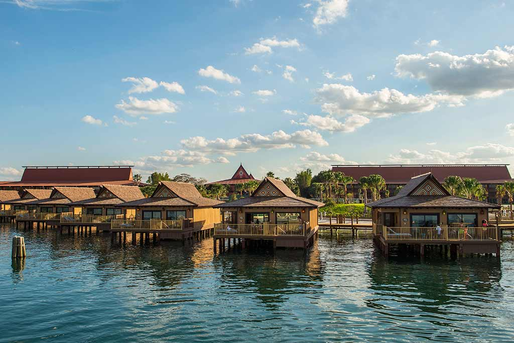 View of the bungalows from the water
