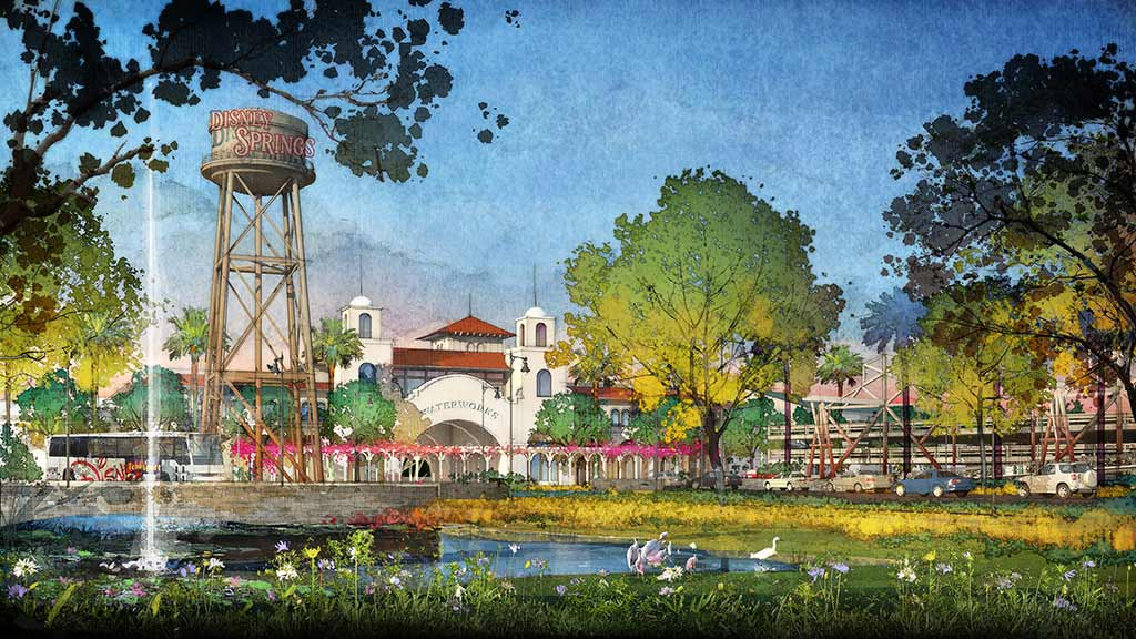 Artist's rendering of Disney Springs gateway