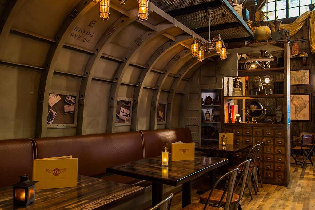 Interior seating at Jock Lindsey's Hangar Bar
