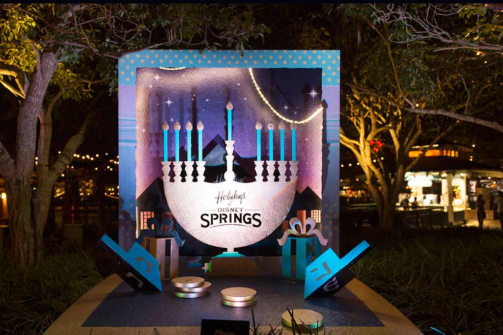 Menorah at Disney Springs