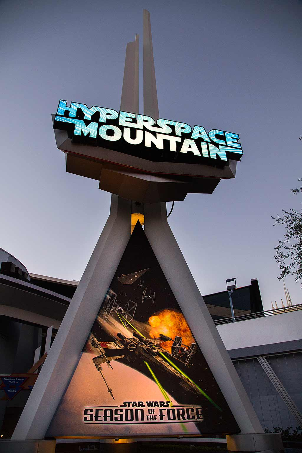 Hyperspace Mountain signage
