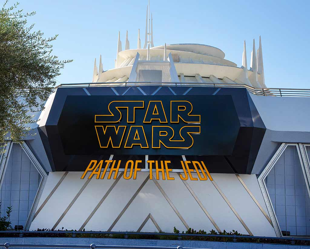 Star Wars Path of the Jedi marquee