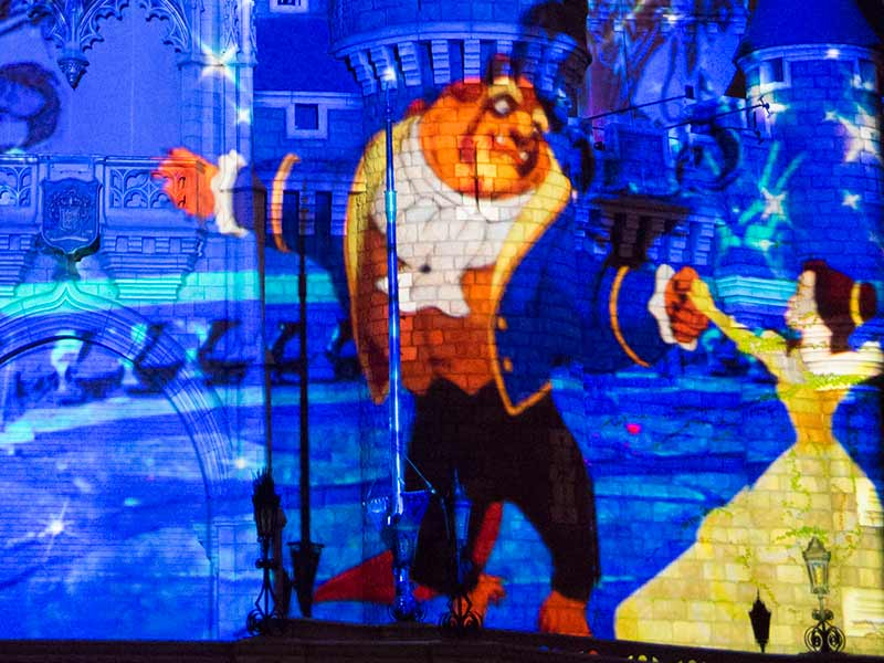 new cinderella castle projection show