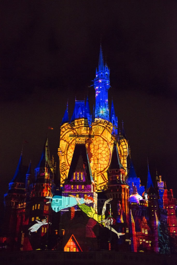 New castle projection show at Disney's Magic KIngdom