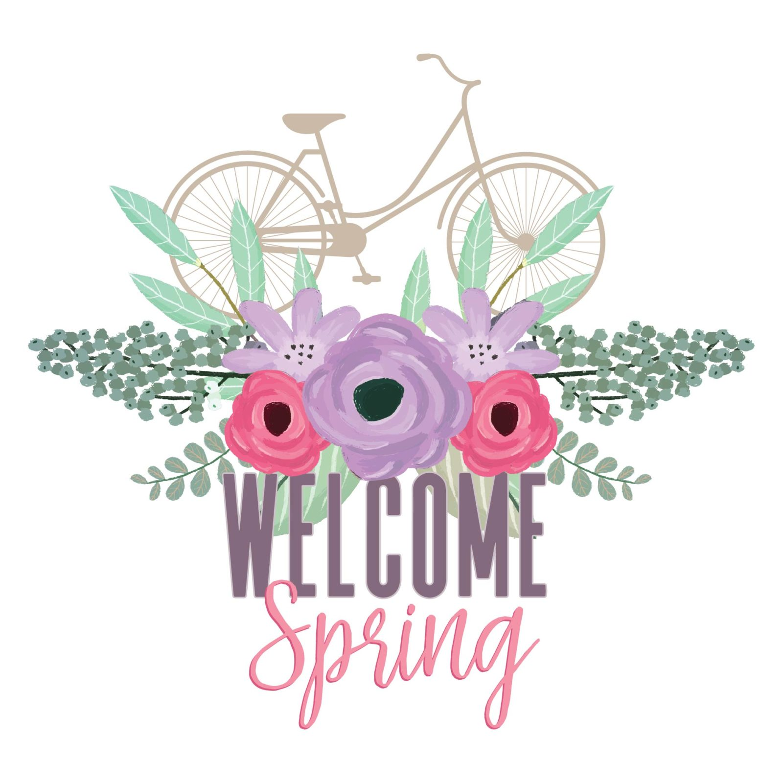 Welcome Spring Free Printable Etc Papers