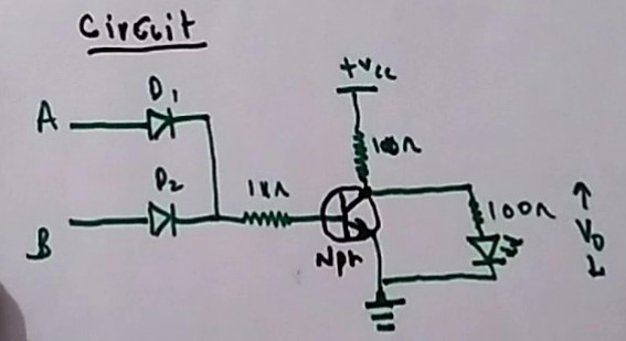 Circuit of a NOR Gate
