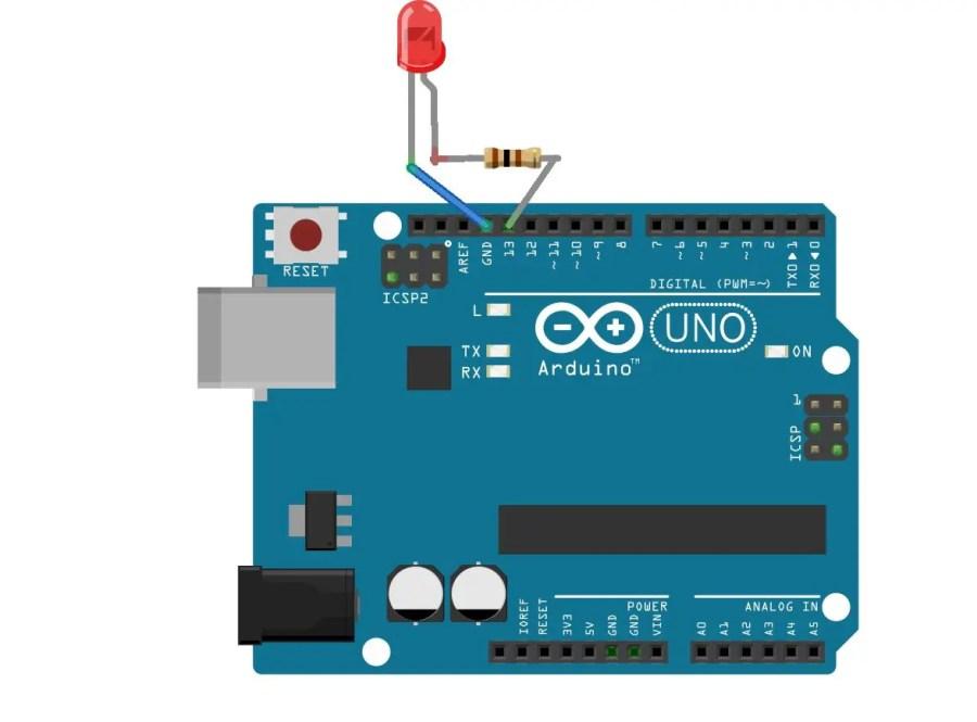 Arduino Programming example 1 Circuit