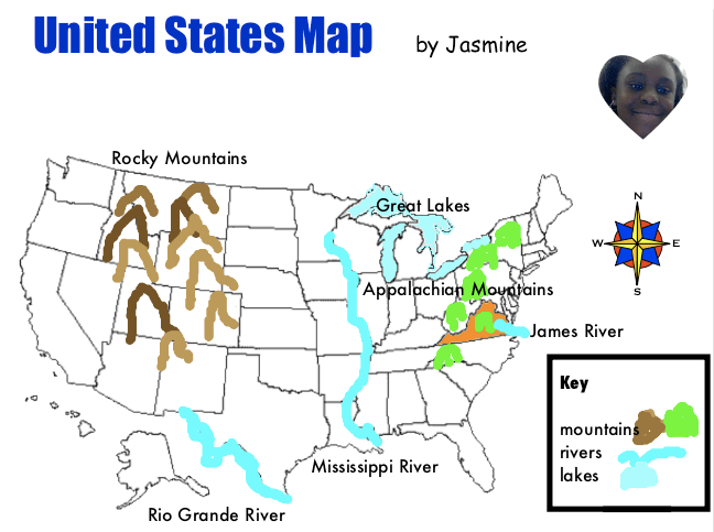 The 5 Great Lakes D The James River A And The Appalachian Mountains F Students Must Locate These Landmarks On A Us Map