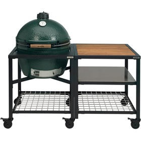 Big Green Egg XLarge Houtskoolbarbecue met Modular Nest System Compleet Acaciahout/RVS
