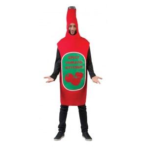 Rode ketchup fles pak