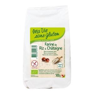 Ma Vie Sans Rijst & kastanjemeel - glutenvrij - bio 500 gram