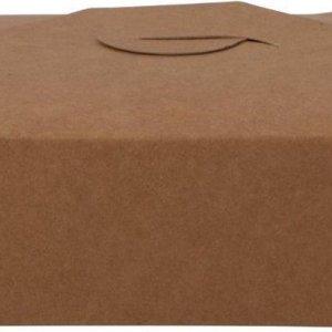 Kartonnen Maaltijdbox 215 x 158 x 48 mm Pak 25 stuks Biodore