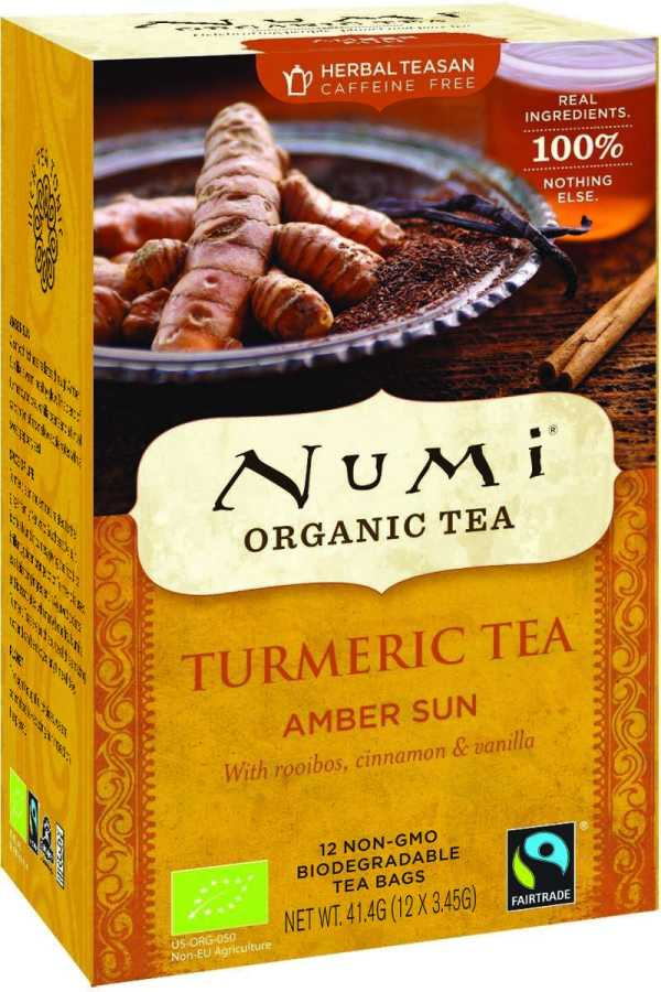 Numi Amber Sun - kurkuma thee, met rooibos, kaneel & vanille, bio