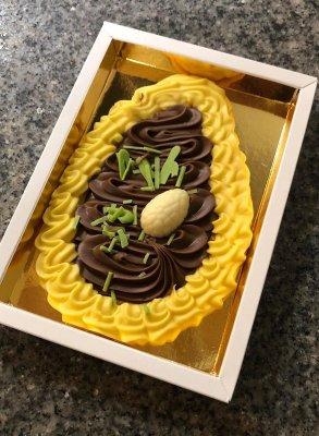 Liebechoc Chocolade Ambachtelijke Romige Chocolade Paas-ei (Paasei) - 200 gram - Leuke chocolade-cadeau om te geven met pasen