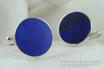 Blue Lapis Lazuli Sterling Silver Cufflinks by A.LeONDARAKIS
