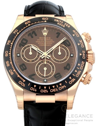 Rolex Cosmograph Daytona Chocolate Dial 18K Everose Gold Automatic 116515