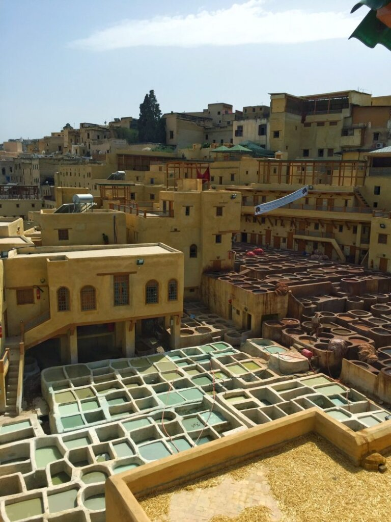 A semi-aerial view of Fes and its hellish-smelling tanneries