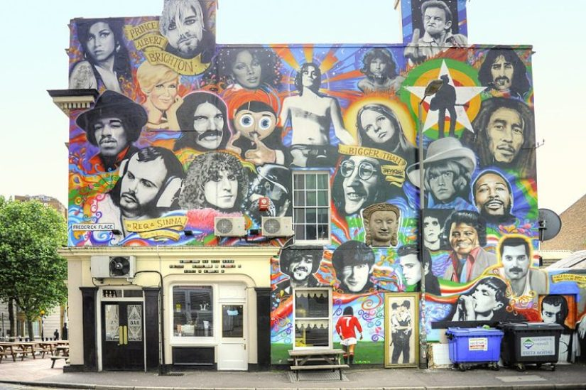 Street art in Brighton, England