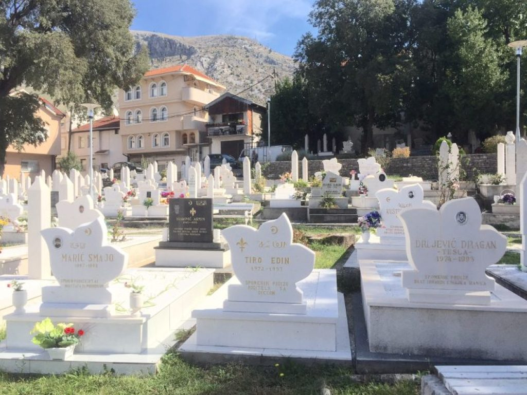 The graveyard in Mostar