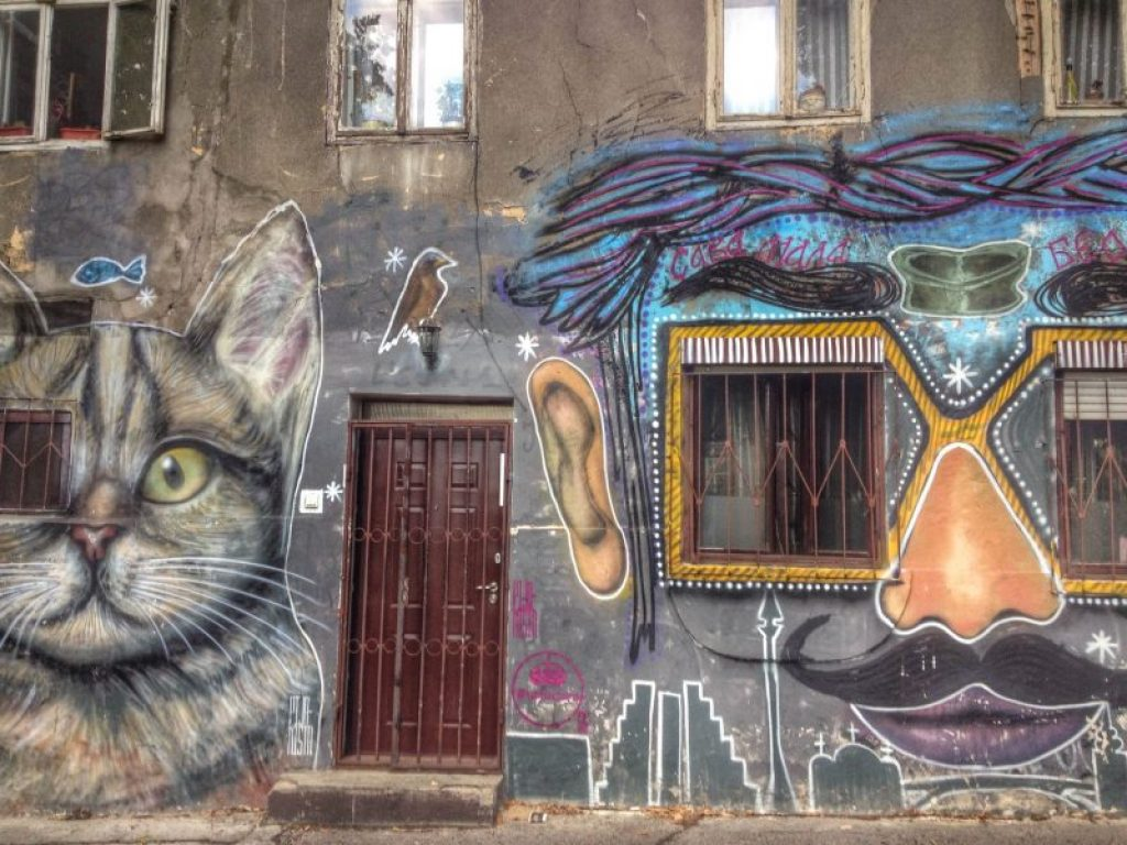 Street art in Belgrade, Serbia