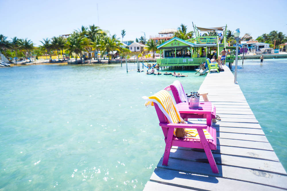 Where to drink in Caye Caulker Belize, go slow!