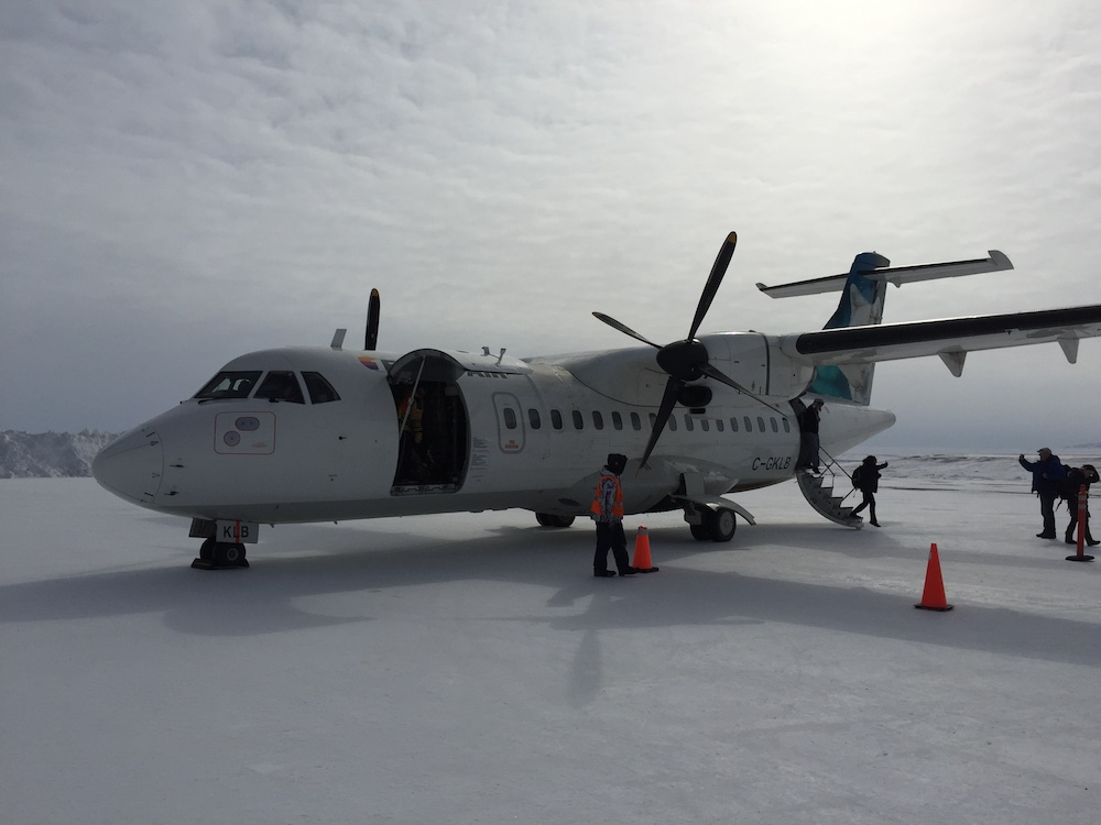 Flying to the Canadian Arctic in Nunavut