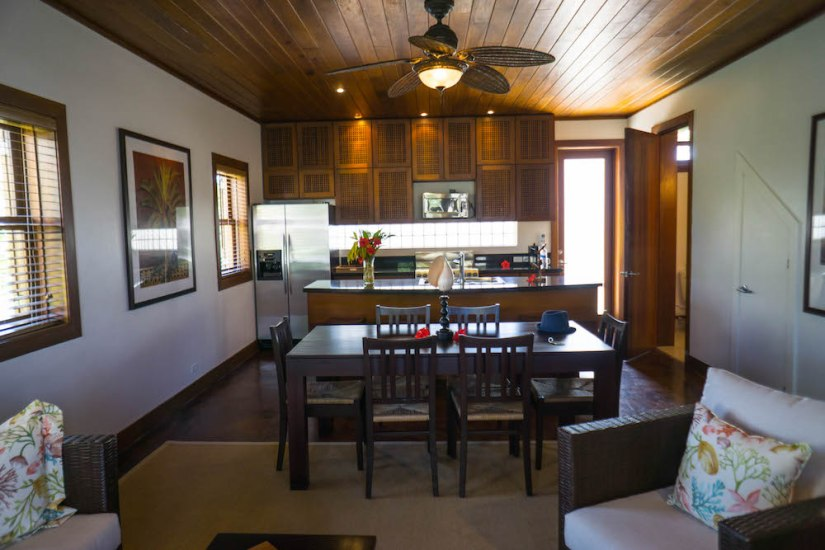 Kitchen of our villa in San Pedro Belize at Victoria House