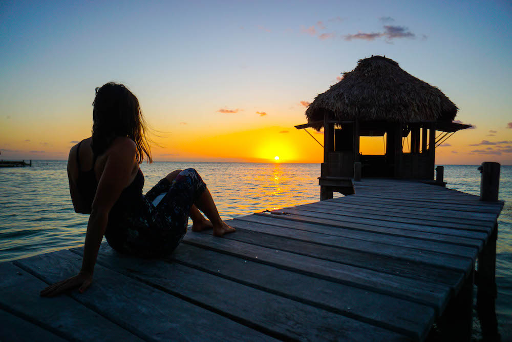 Sunset view in Belize at Victoria House